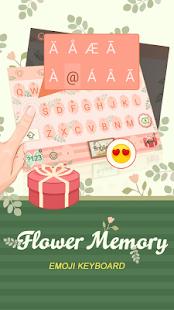 Flower Memory Theme&Emoji Keyboard - náhled