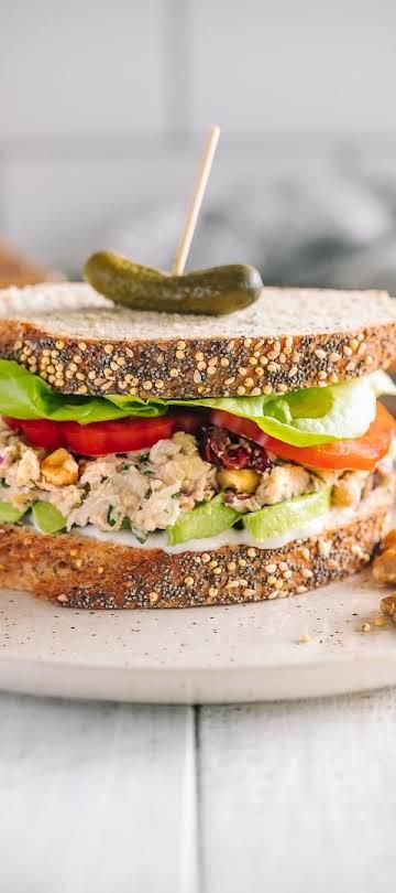 Chickpea & Walnut Salad Sandwiches - California Walnuts