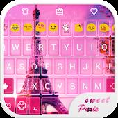 Sweet Paris Emoji Keyboard