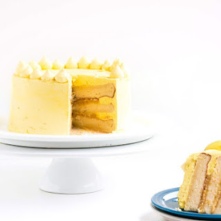 Zesty Lemon Cake with Lemon Italian Meringue Buttercream