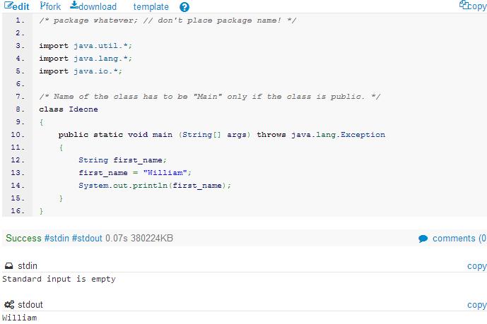 Java Development Steps: IDEONE Java Basics 105 – String and Character