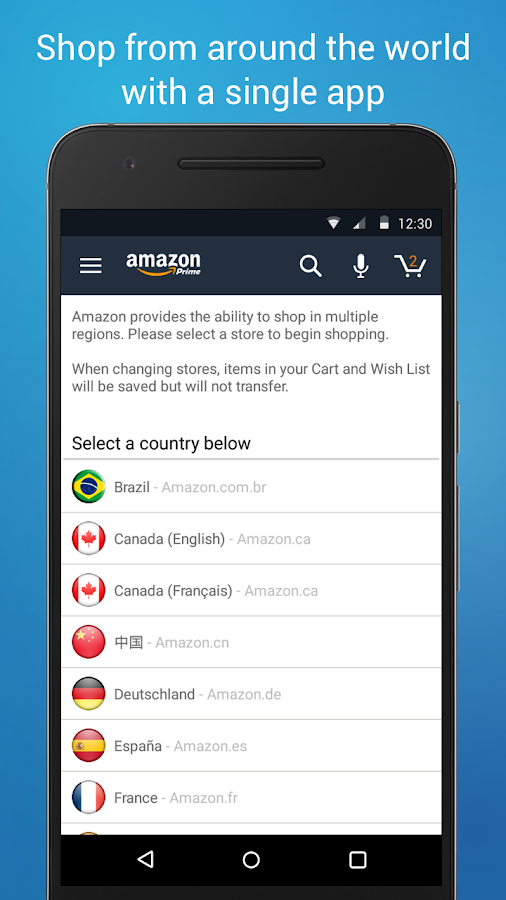 Screenshots of Amazon App for Android