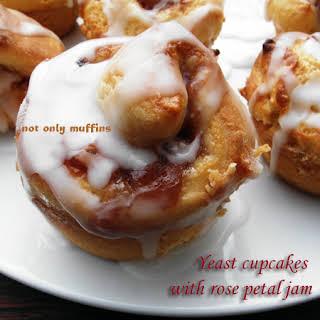 Yeast Cupcakes With Rose Petal Jam.