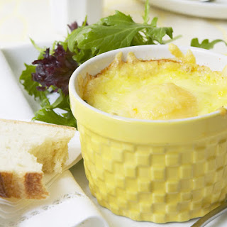 Eggs en Cocotte with Smoked Cod