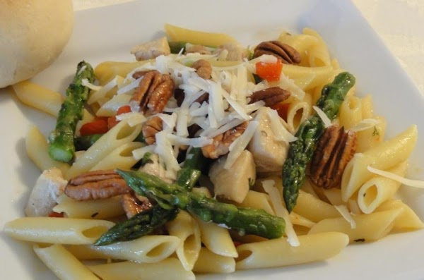 Asparagus And Pasta With Pecans Recipe