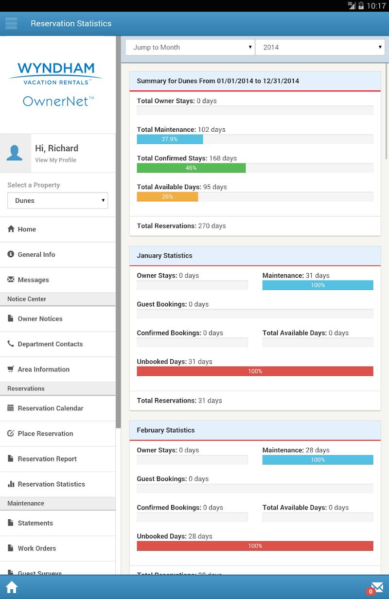 Скриншот Wyndham OwnerNet 2.0