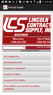 Lincoln Contractors Supply App- screenshot thumbnail