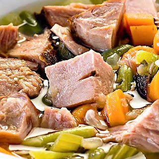 Crock Pot Ham and Vegetable Soup.