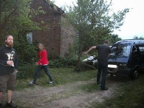 Photo: Frank,Sascha,und nicht zu vergessen Ein Teil der Wohnmurmelbesatzung