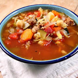 Italian Sausage and Vegetable Soup.