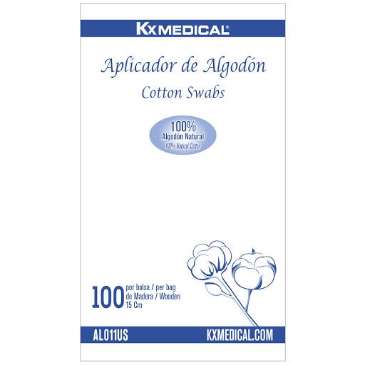 Aplicador de Algodon de   Madera