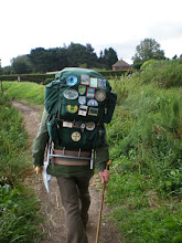 Photo: Norfolk Coast Path - From Brancaster to Warham - Deepdale and Norton marshes - Following a senior long distance walker