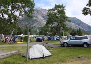 Photo: Our campsite with Bear's Hump in background - near center of photo
