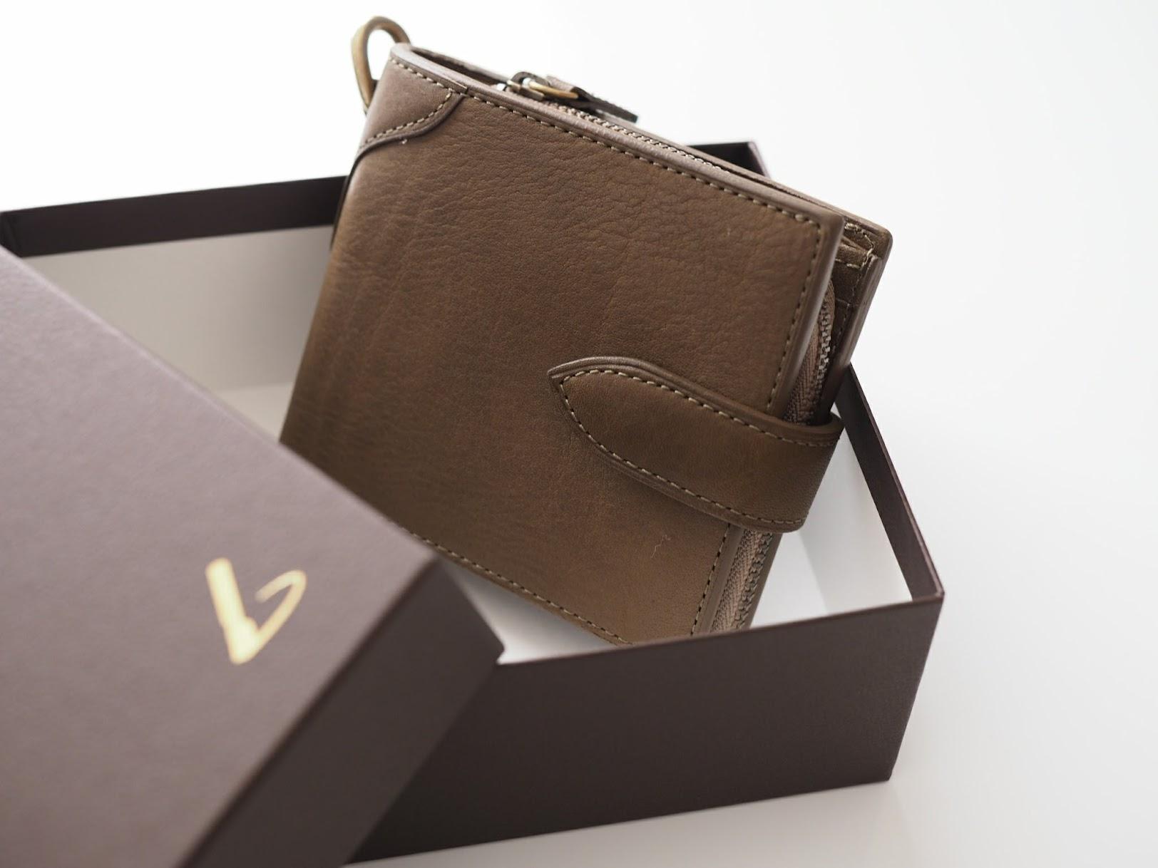 土屋鞄の折りたたみ財布