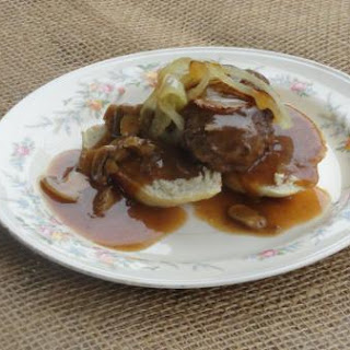 Open Face Hamburger Steak Sandwich