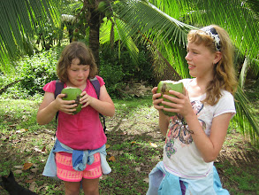 Photo: Drinking fresh coconut juice on the tour of Finca Kobo