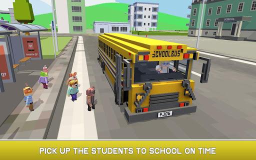 Mr. Blocky School Bus Driver: American Highschool 1.1 screenshots 2