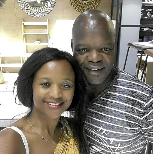 Actor Seputla Sebogodi and his new wife-to-be Makoena Kganakga.