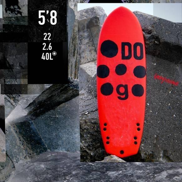 Softdog - Greyhound 5'8 Surfboard