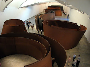 Photo: The largest installation in this museum, The Matter of Time, is mind warping when you walk inside the sculptures.