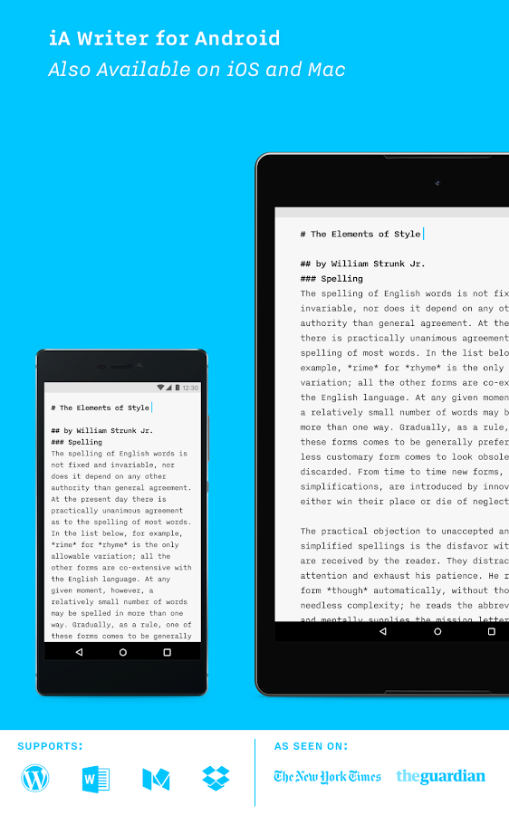 iA Writer: Note, write, edit.- screenshot