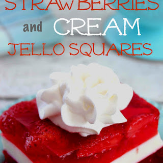 Strawberries and Cream Jello Squares