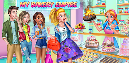My Bakery Empire - Bake, Decorate & Serve Cakes APK poster