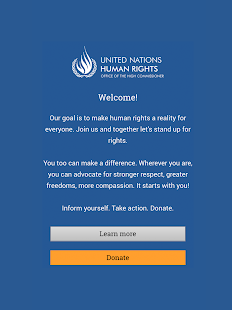 UN Human Rights: miniatura de captura de pantalla