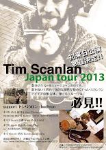 Photo: Tim Scanlan Japan Tour 2013 フライヤー試作 2013.02.19