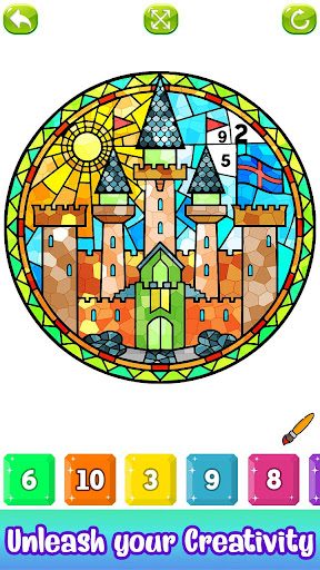 Stained Glass Color by Number - Adult Paint Book ss3