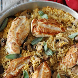 Baked Chicken and Orzo.