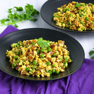 Cauliflower Bhurji with Matar