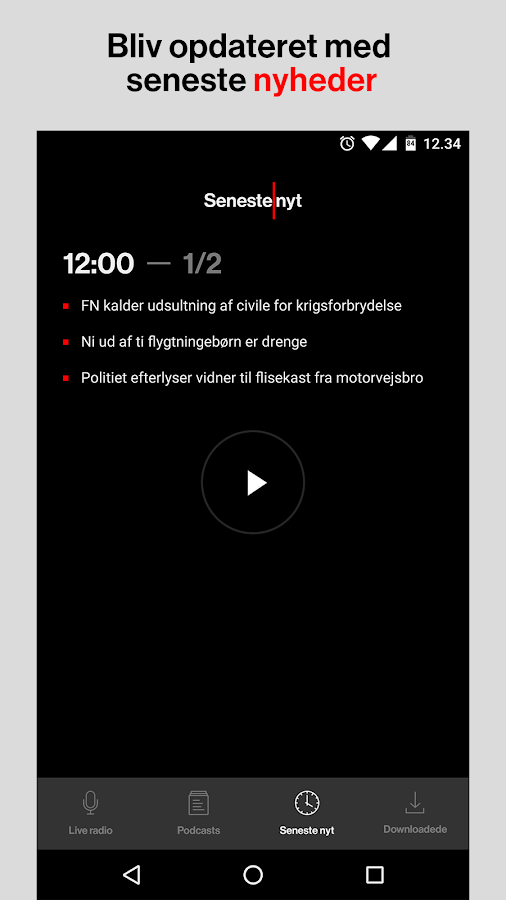 Radio 24syv – radio og podcast- screenshot