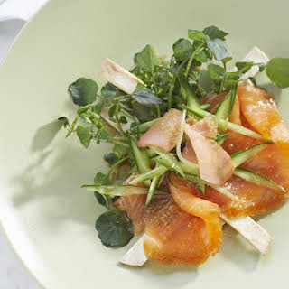 Smoked Salmon with Asian Dressing.