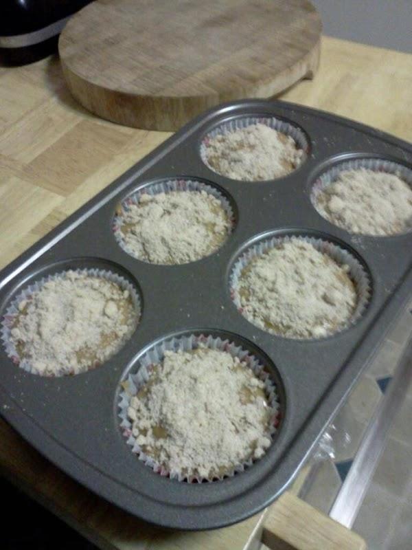 Bake at 350 degrees 20-25 min for regular sized muffins.  Bake 35-40 min...