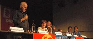 Carolus Wimmer bei einer Diskussion in Hamburg,
