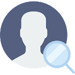 Profile visitors for facebook Icon