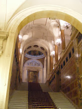 Photo: Here, one of the marble staircases leading to the main chambers.
