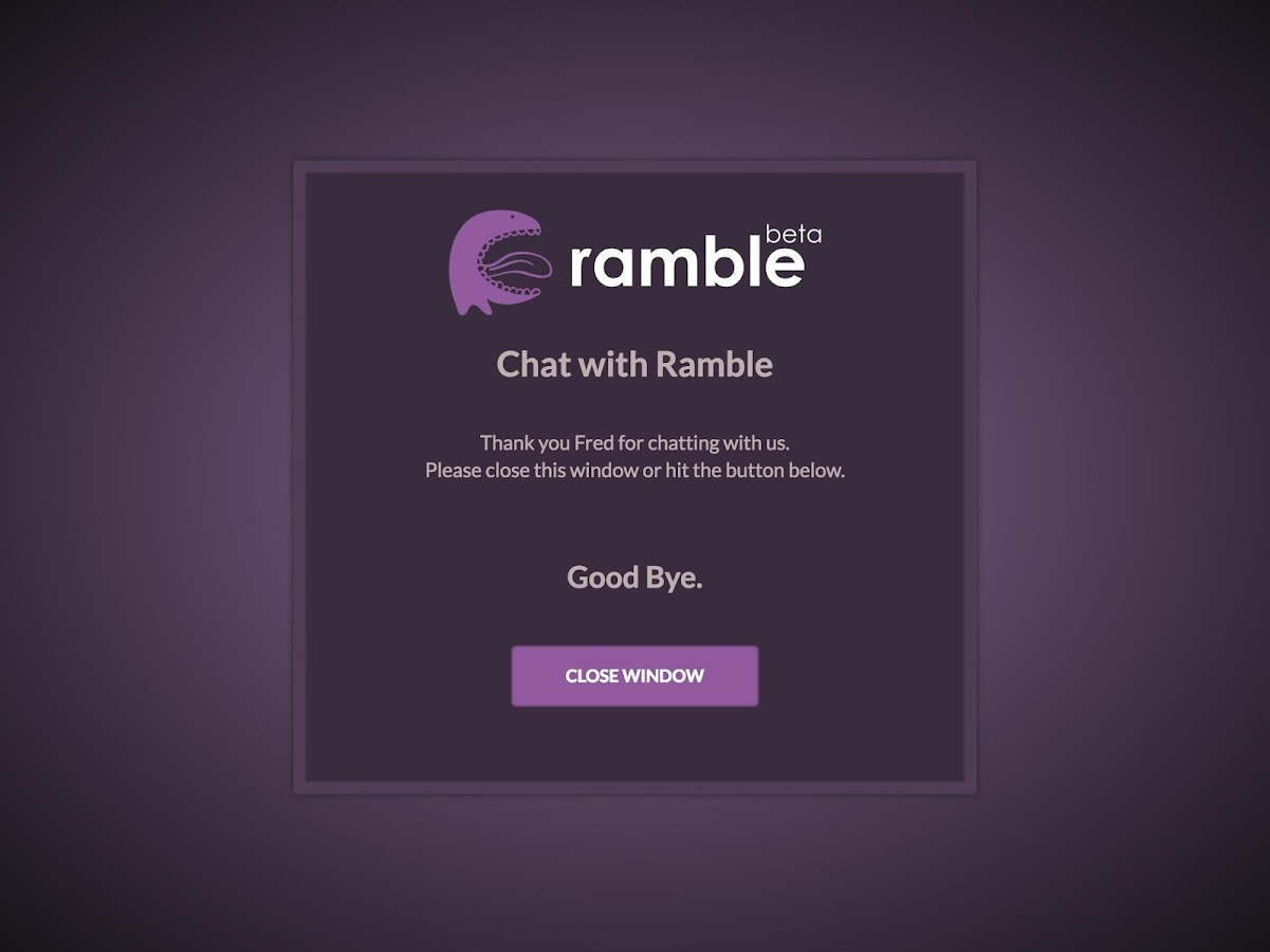 Ramble- screenshot
