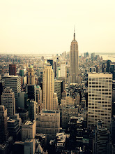 Photo: The New York City Skyline and the Empire State Building. Top of the Rock. Midtown, New York City.View the writing that accompanies this post here at this link on Google Plus:https://plus.google.com/108527329601014444443/posts/TJAWti8D4VeView more New York City photography by Vivienne Gucwa here:http://nythroughthelens.com/