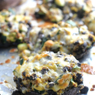 Mexican Quinoa Stuffed Portobello Mushrooms.