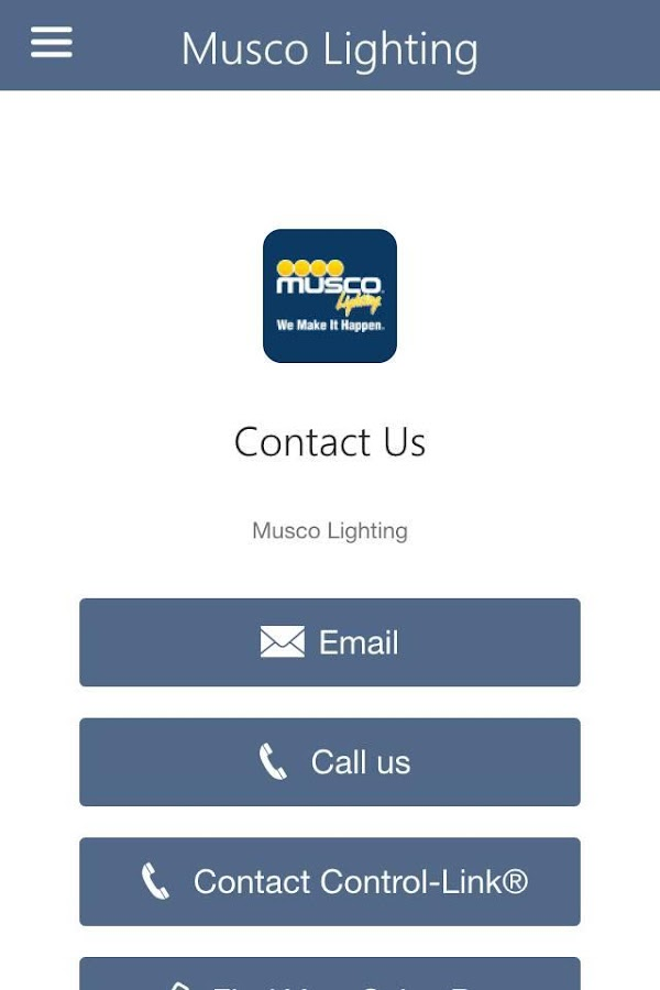 Musco Lighting Control-Link®- screenshot