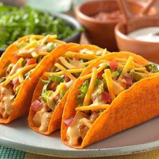 Cheesy Chicken Ten Minute Tacos