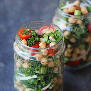 Chopped Kale and Chickpea Salad with Tamarind Vinaigrette