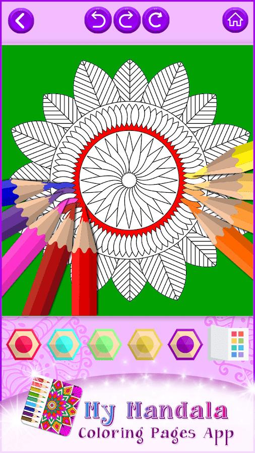 my mandala coloring pages app screenshot
