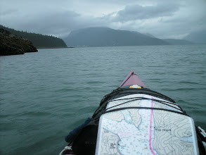 Photo: Heading north up Chilkoot Inlet with Haines coming into view.