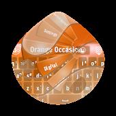 Orange Occasion GO Keyboard