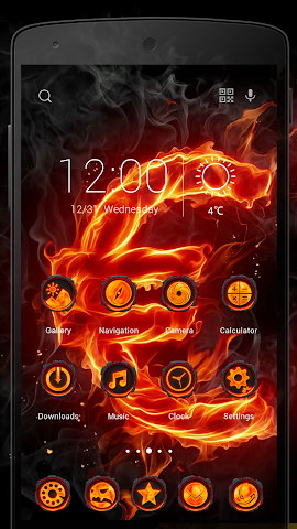 android Fire Stone-Solo Theme Screenshot 1