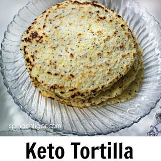 Grain Free Tortillas with Chia and Flax.