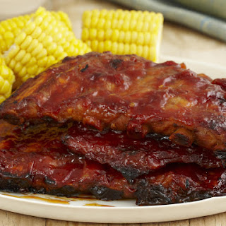 Baked Ribs in Hot Chili Sacue.